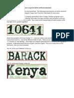 Fake Birth Certificate