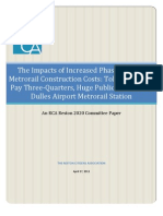 The Impacts of Increased Phase 2 Dulles Metrorail Construction Costs--FINAL--04272011