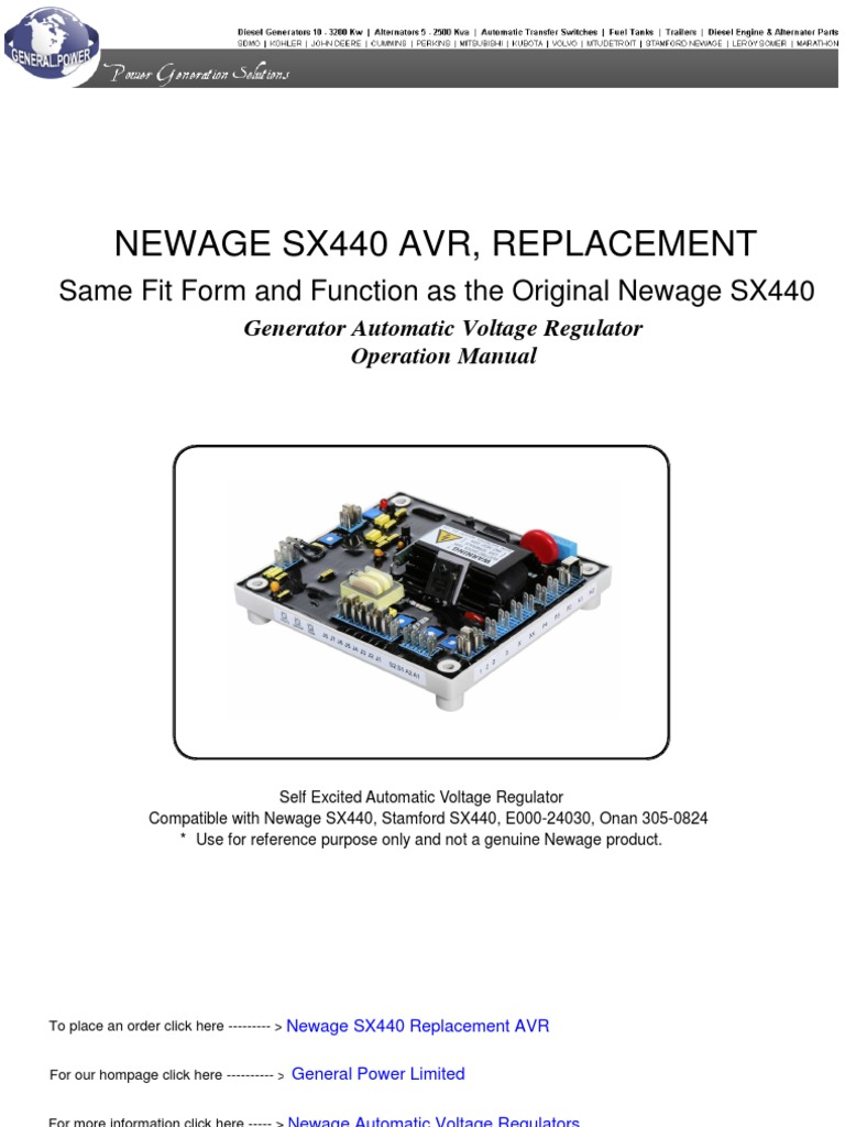 Stamford Sx440 Wiring Diagram Bookmark About Mx321 Voltage Regulator Newage Automatic Electric Generator Volt Rh Es Scribd Com Gateway