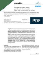 Pub Matrix- A Tool for Multiplex Literature Mining