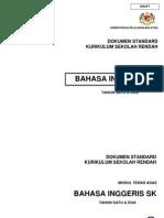 Dokumen Standard KSSR English Y1- SK