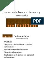 Gerencia de Recursos Humanos y Voluntarios