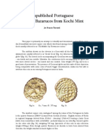 Unpublished Portuguese Quarter Bazarucos From Kochi Mint