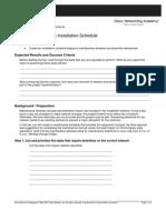 5. Creating an Installation Schedule
