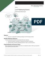 5. Determining an IP Addressing Scheme