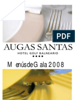 Menús de gala Augas Santas 2008