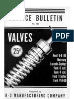 K-D Valve Service Bulletin