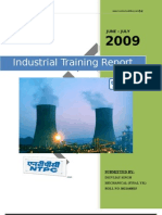 Industrial Training Report on NTPC DADRI