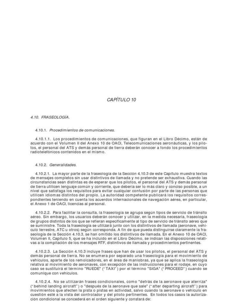 Fraseologia RCA Libro 4 Capitulo 10