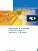 Determinants of Productivity Corss Country Analysis and Country Case Studies