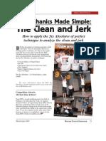 Clean and Jerk Bio Mechanics