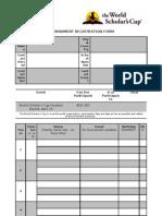 Houston Round Registration Form