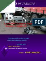 CRIMES DE TRÂNSITO - CTB -    POR  EDINALVA OLIVEIRA DOS SANTOS