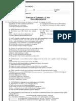 Atividade de Concordancia Verbal - 2º ano -  30.08