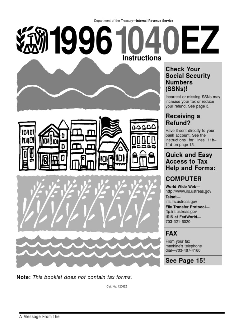 Us internal revenue service: i1040--1998 | irs tax forms | income.