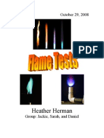 Flame Tests Lab