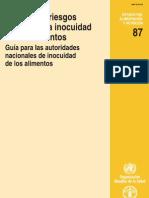 Analisis de Riesgos Relativos a La Inocuidad de Los Alimentos