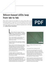 Silicon-Based GaN LEDs
