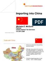 2000 Importing to China Arthur Anderson