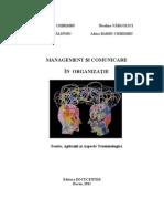 Management Si Comunicare in Organizatie (CHIRIMBU Coord., VARGOLICI CALINOIU, BARBU)