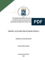Arendt - ação, discurso e esfera pública  por Ivonei Freitas da Silva