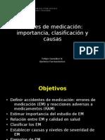 Tipos y causas de errores de medicación