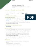 Exemplo para Guia de instalação CSS