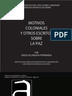 MOTIVOS COLONIALES, presentacion e introducción a la obra de E.Vllanueva