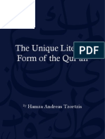 The Unique Literary Form of the Qur'An