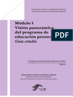 Modulo I_Vision panorámica del programa de educacion preescolar