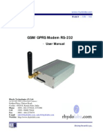 GSM Modem RS232 User Manual