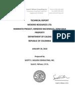 NI 43-101 Technical Report Zona Baja 20 January 2010