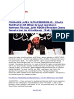 Osama Bin Laden is Confirmed Dead... Killed in ABBOTTABAD, PAKISTAN in a US Military Ground Operation, He was hiding in a Mansion... No American Casualties DEVELOPING....