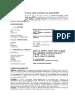 Contrato  de Trabajo de Plazo Determinado sujeto al Régimen MYPE