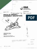 Spacelab Mission 1 Experiment Descriptions