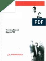 Primavera P6 Training Manual Course 106