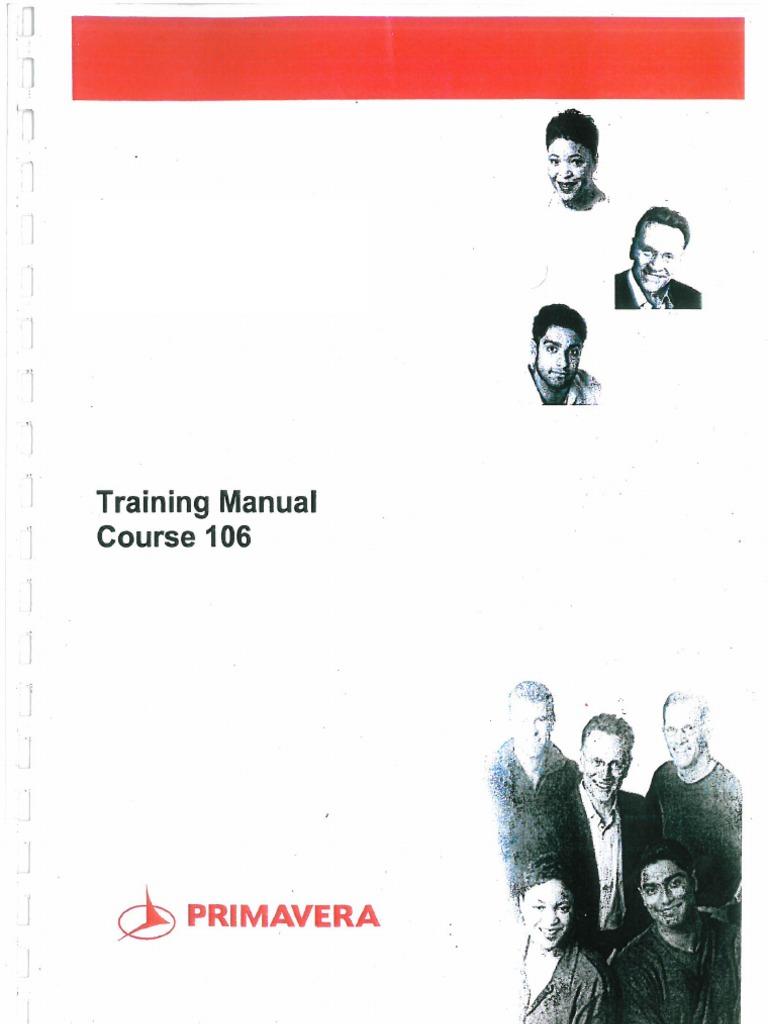 primavera p6 training manual course 106 rh fr scribd com primavera training manual pdf primavera training manual course 102.pdf