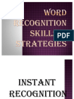Word Recognition Skills & Strategies
