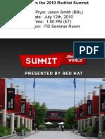 Red Hat Summit 2010 Summary