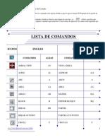 Lista de Comandos Para Autocad