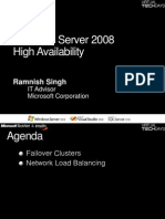 Windows Server 2008 Building High Availability Infrastructures