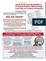 Obama Committed Draft Registration Fraud!  Whose SSN is He Using? Wash Times Natl Wkly 20110502 pg 5
