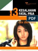 13 Kesalahan Fatal Pria by Hitman System