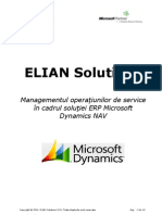 Elian Solutions - ERP Microsoft Dynamics NAV - Modul Service Management