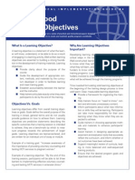 TIG 4 Learning Objectives