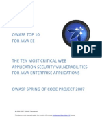 Owasp Top 10 2007 for Jee
