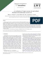 Descriptive Sensory Evaluation of Virgin Coconut Oil and Refined,