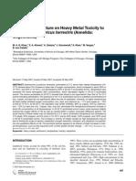 Effect of Temperature on Heavy Metal Toxicity to Earthworm Lumbricus terrestris (Annelida