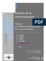 15016047 Histoire de La Communication Communication Ch2 Les Differents Media