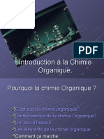CCII 1) Introduction à la Chimie Organique